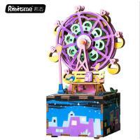 若态 儿童音乐启蒙木质八音盒玩具 创意礼品摩天轮音乐盒批发