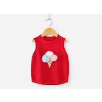 儿童毛衣背心女1-3岁女童毛线衣小童春秋衫婴儿春装5宝宝针织马甲