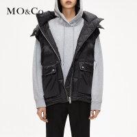 MOCO秋季新品立领羽绒背心外套派克羽绒服MA183EIN102 摩安珂