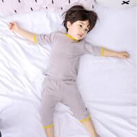儿童睡衣夏季薄款男童家居服套装