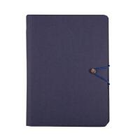 悦声洗水牛皮笔记本深蓝学生文具记事复古简约96页 BC01155 当当自营