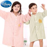 迪士尼Disney新疆长绒棉浴衣浴袍 纯棉毛巾浴袍 儿童浴衣 家居服