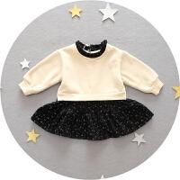 1-3岁 女宝宝卫衣裙冬装加绒打底裙子女婴儿连衣裙