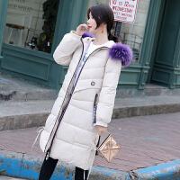 【极速发货 超低价格】洋气外套棉服女冬季韩版中长款收腰大毛领宽松过膝百搭中学生棉袄