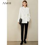 AMII法式小优雅香风粗花呢外套2020新款双排扣休闲百搭宽松上衣女