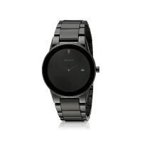 【网易考拉】CITIZEN 西铁城 男士Eco Drive系列 黑色简约时尚不锈钢光手表 AU1065-58