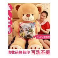 泰迪熊猫毛绒玩具公仔布娃娃抱抱熊女孩送女友可爱睡觉抱生日礼物 直角量1.4米全长量1.2米(亏本促销 送彩袋)