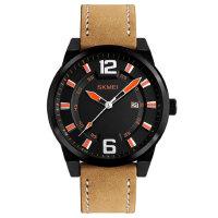 男士防水石英手表皮带商务指针腕表单历简约个性时尚男表