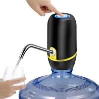 蓝光LED灯USB充电桶装水电动抽水器出水自动上水器家用饮水机电动纯净水矿泉压水器自动吸水器饮水器 018黑色