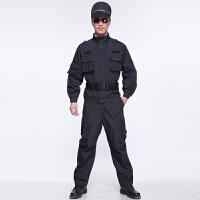 秋冬新款长袖工作服作训服作战套装男迷彩服保安户外冲锋衣裤速干排汗 透气舒适
