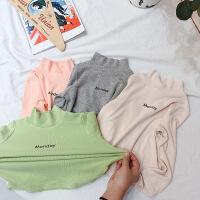 秋冬洋气童装女童保暖T恤儿童上衣宝宝半高领打底衫
