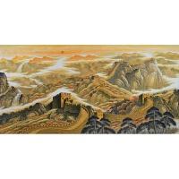 山水画办公室客厅风水靠山龙抬头原稿万里长城画靠山图纯手绘 240*120CM