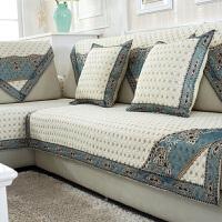 沙发垫四季简约布艺欧式坐垫现代通用沙发巾沙发套靠背巾定做 米白色 迷人的小眼睛