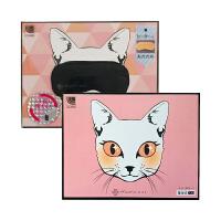 【网易考拉】【林心如同款】ATEX 便携恒温热敷猫咪睡眠情侣款眼罩 粉色+黑色