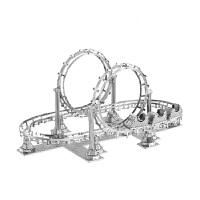 3D立体金属拼图过山车模型diy手工拼装模型玩具礼物 +展示盒X