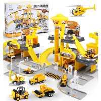 儿童玩具车套装组合停车场轨道车合金小汽车各类车小朋友男孩2岁3