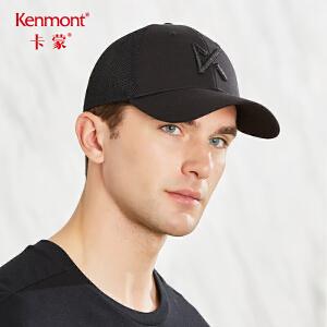 卡蒙帽子男夏季韩版黑色鸭舌帽透气刺绣棒球帽街头潮人户外太阳帽3587