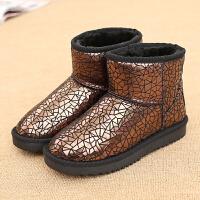 环球雪地靴女冬季2017新款棉鞋加绒保暖短靴韩版学生平底短筒女鞋