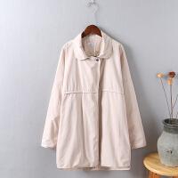 Y5春秋�b新款�L衣 女中�L款�n版修身�@瘦大�a女�b大衣外套0.5