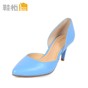 达芙妮旗下鞋柜细高跟尖头时尚简约纯色OL单鞋
