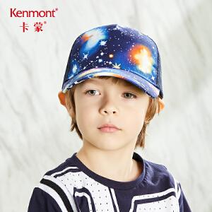 卡蒙6-9岁宝宝透气鸭舌太阳帽星空女童棒球帽薄款夏儿童男孩帽子 4630