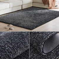 加厚��力�z�P室地毯�F代��s客�d家用茶��|�W式�M�沙�l地毯床�