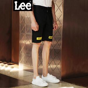 Lee男装 2018新品字母印花休闲棉质短裤L270442SKK11
