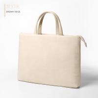 苹果联想小米华硕13.3笔记本电脑包15.6寸手提14公文包文件袋男女