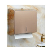 不锈钢擦手纸盒 卫生间抽纸盒架 厕所酒店壁挂式家用纸巾盒免打孔