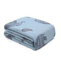 全棉80支毛巾被六层AB版吉象纱布毯夏季空调毯午睡毯双人尺寸床单