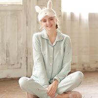 梦蜜 樱桃 秋冬季月子服产后哺乳睡衣春秋孕妇家居服套装产妇喂奶衣