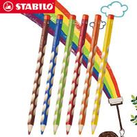德国stabilo思笔乐 儿童洞洞彩色铅笔粗杆矫正小学生握姿绘画彩铅