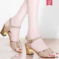 户外新品粗跟凉鞋女仙女风百搭适合搭配吊带连衣裙的鞋子