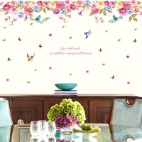 创意墙贴鸟语花香墙纸贴墙贴画客厅温馨卧室树贴花 墙壁贴纸自粘