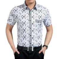 2015男衬衫短袖 时尚青年男士纯棉休闲衬衣 现货批发真口袋