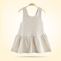 贝萌 新款女童连衣裙春夏装婴儿衣服彩棉公主百褶裙纯棉童裙子