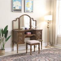 【一件3折】美式古典实木梳妆台 简约现代卧室高档化妆桌子小户型家具
