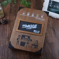 复古木盒同学录创意唯美活页毕业纪念册学生聚会留言本通讯录礼品文具