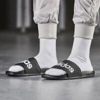 adidas阿迪达斯男子拖鞋2018新款一字拖休闲运动鞋AP9971