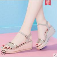 坡跟凉鞋女户外新品时尚百搭网红超火ins潮仙女风厚底高跟鞋