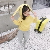 女童卡通兔耳朵两件套韩版小童休闲运动套装春装