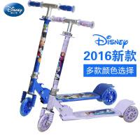 迪士尼儿童滑板车三轮四轮可折叠踏板车3-8宝宝闪光滑轮车摇摆车