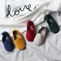 新款百搭限定款软底麂皮绒布鞋儿童豆豆鞋送加厚羊羔鞋垫