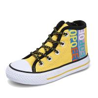 儿童高帮帆布鞋女童鞋子男童布鞋板鞋学生小白鞋