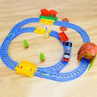 拖马斯轨道车玩具电动赛车儿童小火车套装男孩益智礼物