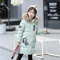 20180321063515689女童棉衣外套加厚棉袄新款中长款儿童冬装羽绒中大童韩国