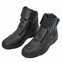 MOTORCYCLE BOOTS 黑色越野防水短靴公路摩托车赛车短靴子