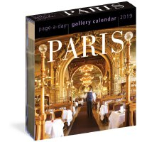 【现货】英文原版 2019年画廊日历:巴黎 进口台历 每天一页 精美装帧 Paris Page-A-Day Galler