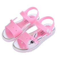 儿童凉鞋夏卡通女童透气凉鞋大童宝宝沙滩鞋舒适学生凉鞋