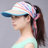 帽女士太阳帽春季遮阳凉帽防晒百搭户外无顶出游 可调节